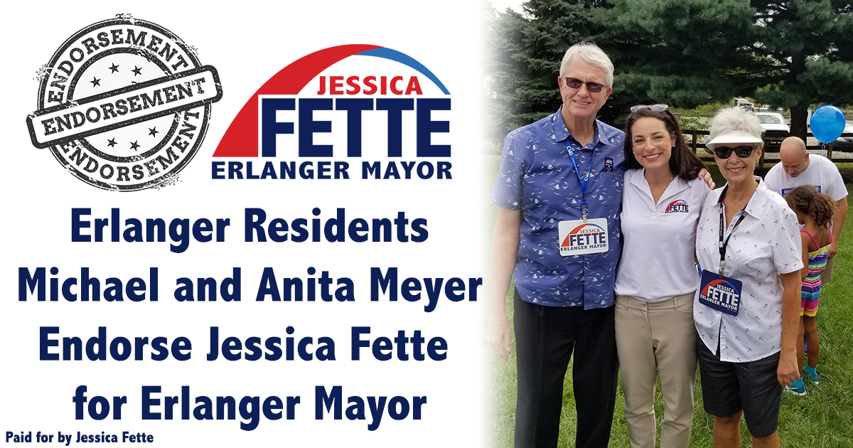 Positive, Energetic and Passionate - Mike and Anita Meyer Endorse Jessica Fette